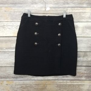 White House Black Market Textured Button Skirt